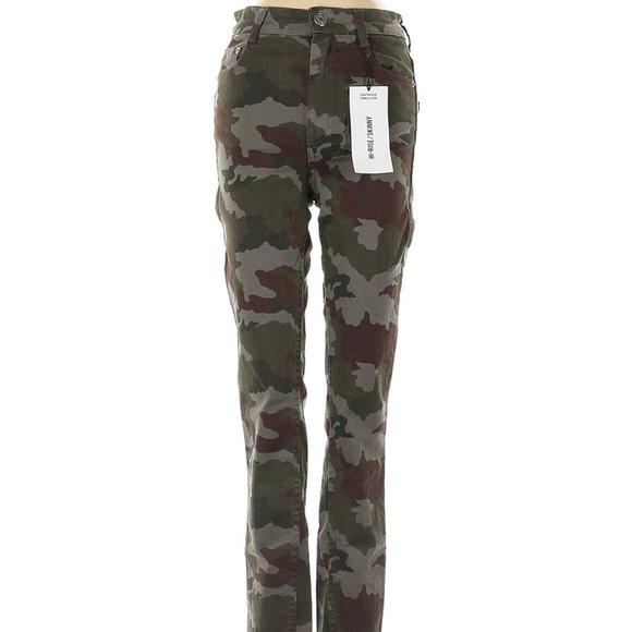 Zara Trafaluc High Rise Skinny Camo Jeans Sz 2 New